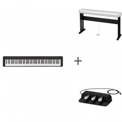 Комплект Цифровое фортепиано Casio CDP-S150BK + Подставка CS-46P + Педаль тройная SP-34