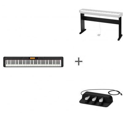 Комплект Цифровое фортепиано Casio CDP-S350RBK + Подставка CS-46P + Педаль тройная SP-34