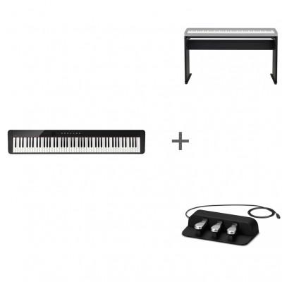 Комплект Цифровое фортепиано Casio Privia PX-S1000BK + CS-68PBK + SP-34