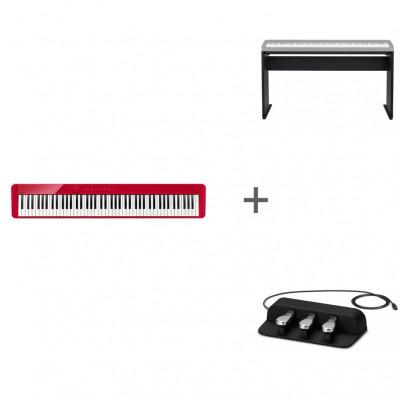 Комплект Цифровое фортепиано Casio Privia PX-S1000RD + CS-68PBK + SP-34