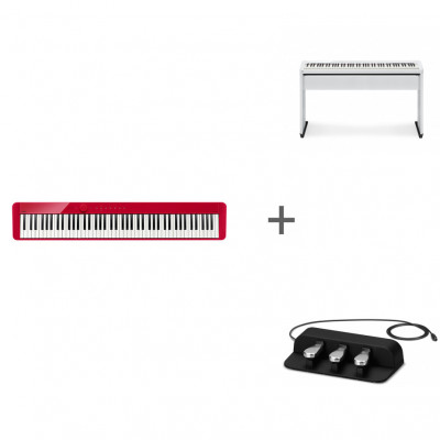 Комплект Цифровое фортепиано Casio Privia PX-S1000RD + CS-68PWE + SP-34