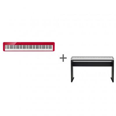 Комплект Цифровое фортепиано Casio Privia PX-S1000RD + Подставка Casio CS-68PBK