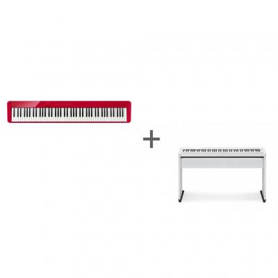 Комплект Цифровое фортепиано Casio Privia PX-S1000RD + Подставка Casio CS-68PWE