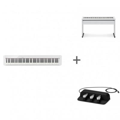 Комплект Цифровое фортепиано Casio Privia PX-S1000WE + CS-68PWE + SP-34