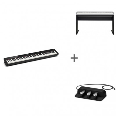 Комплект Цифровое фортепиано Casio Privia PX-S3000BK + CS-68PBK + SP-34